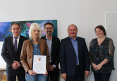 Bürgermeister Dirk Harscher, Cornelia Claßen, Jürgen Sänger, Thomas Spohn, Clauia Behringer