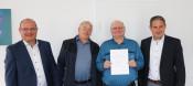 Thomas Spohn, Andreas Gaenzle, Karlheinz Dietzig, Bürgermeister Dirk Harscher