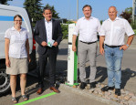 Christine Griebel (eea-Koordinatorin), Bürgermeister Dirk Harscher, Stefan Leder (Geschäftsführer), Urs Brändlin (Geschäftsführer)