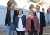 Luis Rama, Martina Milarch, Karin Heining, Bürgermeister Dirk Harscher