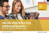 Flyer der Verbrauerzentrale über Online-Vorträge der Energieberatung