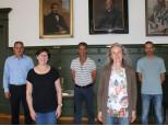 Bürgermeister Dirk Harscher, Marlies Asal, Stefan Blum, Jutta Hofmann, Angelo Turturro