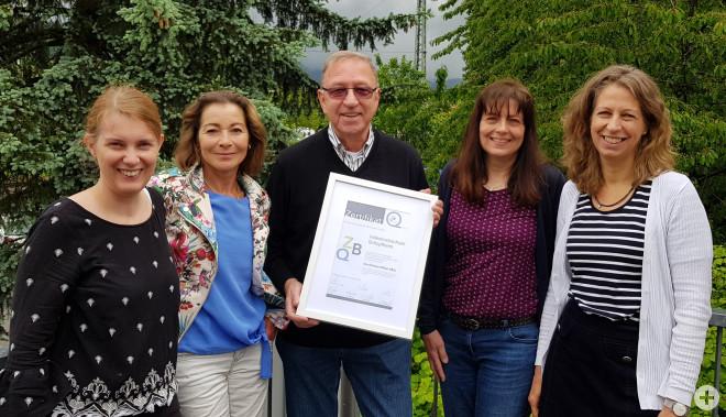 Katrin Nuiro, Martina Richter, Qualitätsbeauftragter Jürgen Weyh, Angelika Strütt und Ruth Simons