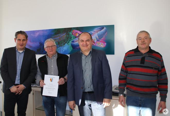 von links: Dirk Harscher, Wolfgang Ühlin, Thomas Spohn, Andreas Gaenzle