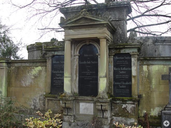 Grabstein der Familie Sutter